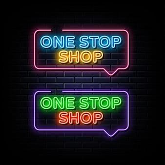 One-stop-shop set neon tekst neon symbool