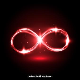 Oneindig symbool met glanzend effect