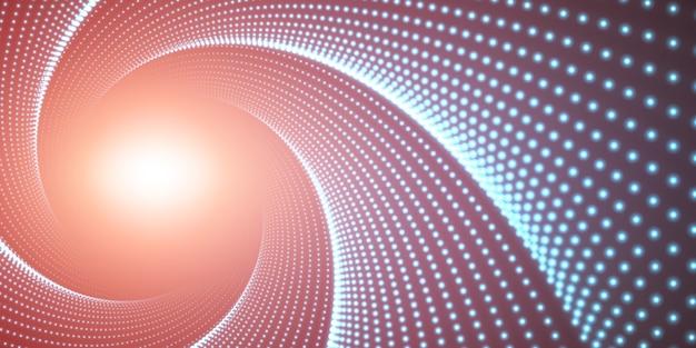 Oneindige ronde gedraaide tunnel met licht