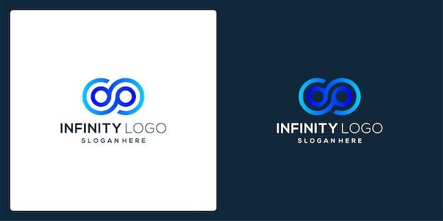 Oneindige symboolvorm met tech-model en verloopkleur.