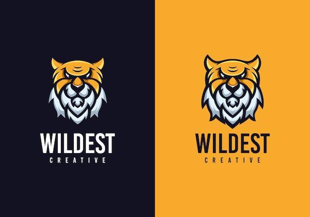 Ongebruikelijk tiger head concept