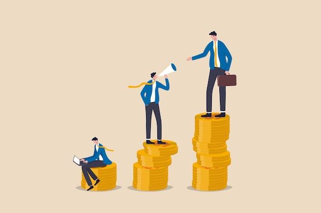 Ongelijkheidsinkomsten in het kapitalisme of loopbaanontwikkeling