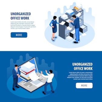 Ongeorganiseerde bestemmingspagina voor productiviteit van kantoorruimte
