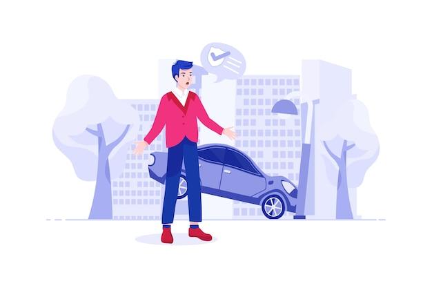 Ongevallenverzekering illustratie concept