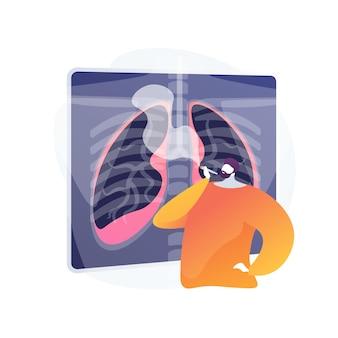 Ongezonde levensstijl, man rookvrije sigaret. roker beschadigt de longen, gevaar voor ademhalingsaandoeningen. nicotineverslaving, schadelijke gewoonte, gezondheidsgevaar.
