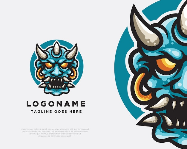 Oni logo mascotte ontwerp