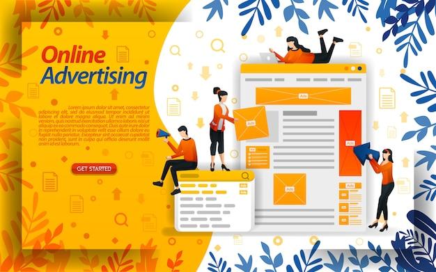 Online adverteren of ppc (pay-per-click) en plaatsing van advertentieruimte