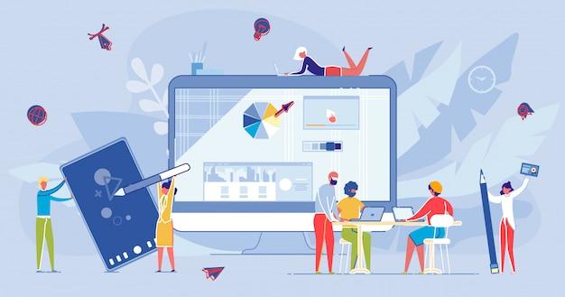 Online afstand internetcursus en onderwijs.