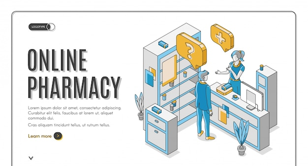 Online apotheek isometrische webbanner