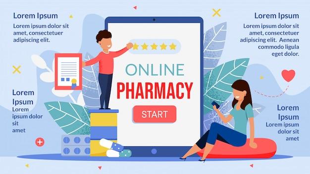 Online apotheek mobiele applicatie