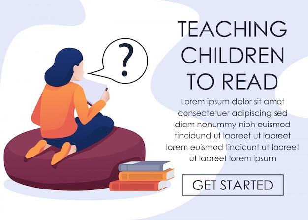 Online app voor het leren van kinderen om zichzelf te lezen
