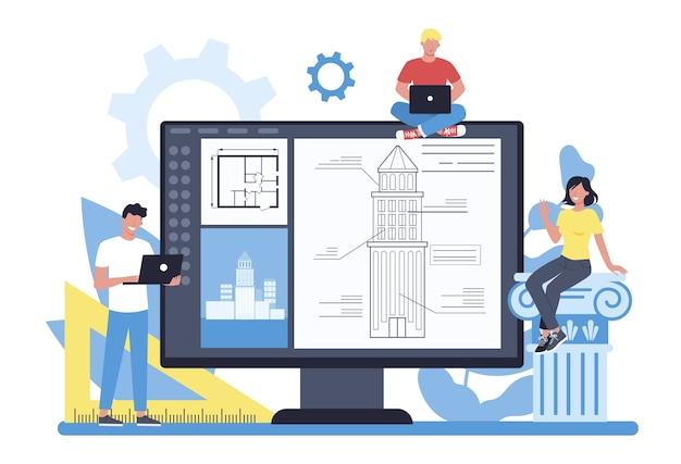 Online architectuurplatform op verschillend apparaatconcept
