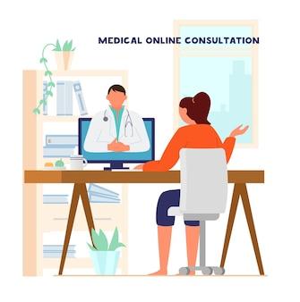 Online arts consultatie concept