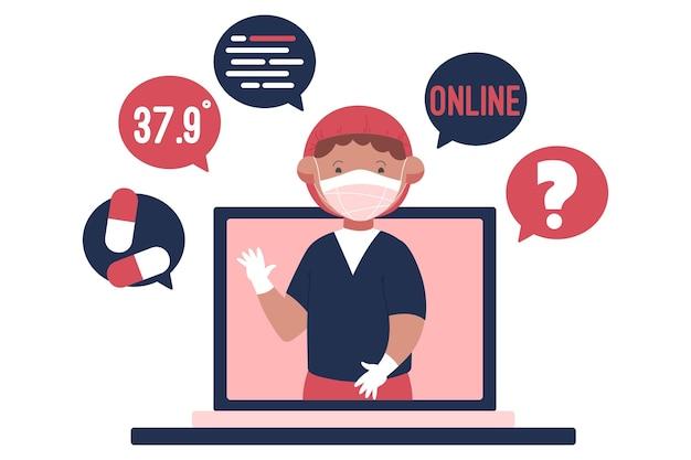 Online arts illustratie
