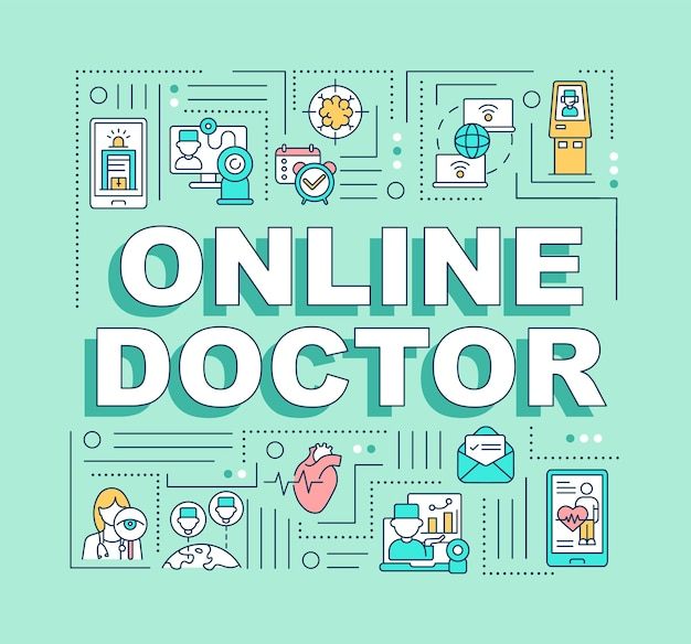 Online arts woord concepten banner