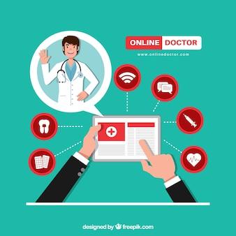 Online artsenontwerp met pictogrammen