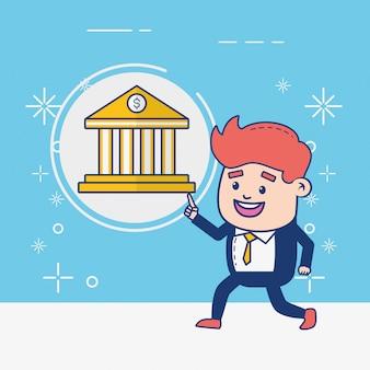 Online bankier persoon