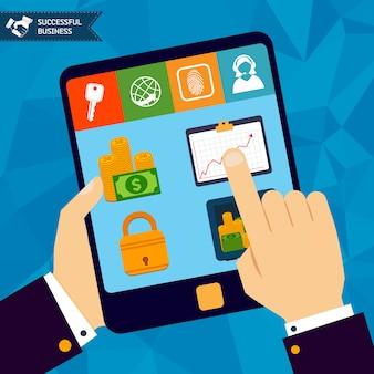 Online bankieren concept