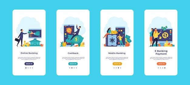Online bankieren mobiele app illustratie