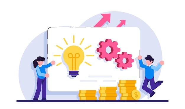 Online bedrijf sleutel tot succes besluitvorming probleemoplossend leiderschap opstarten teamwork samenwerking