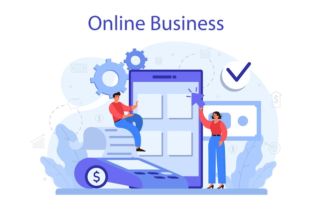 Online bedrijfsconcept