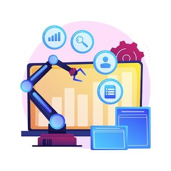 Online bedrijfsontwikkeling, geleidelijke groei, positieve tendens. winstindicator, statistiekengrafiek, diagram.
