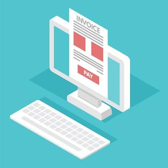 Online belasting betalen, betaling, factuur. financiële boekhouding.