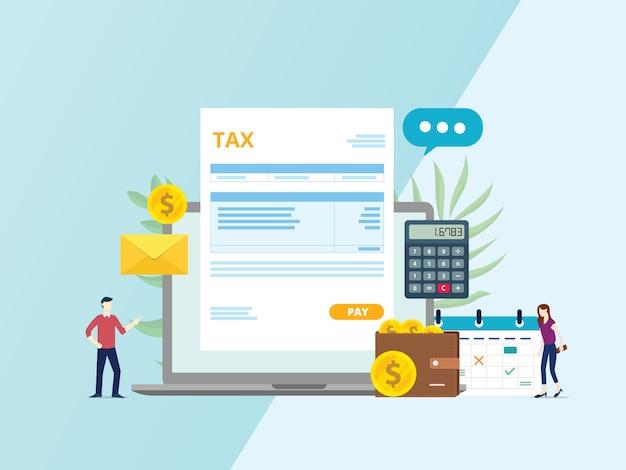 Online belasting factuur betaling