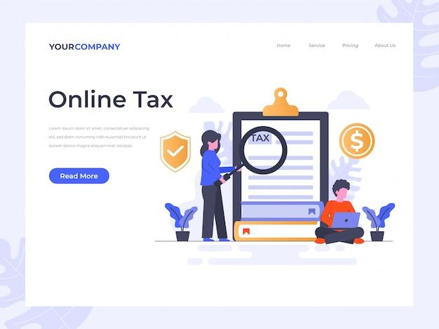 Online belastinglandingspagina
