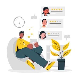 Online beoordeling concept illustratie