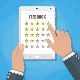Online beoordeling feedback concept