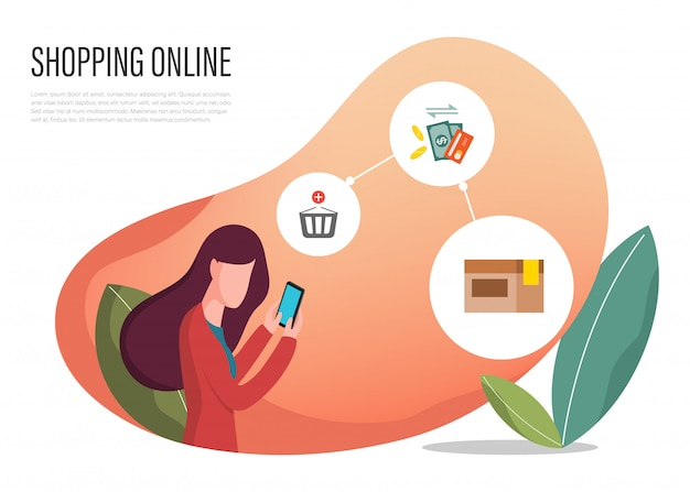 Online bestemmingspagina van webbrowser winkelen.
