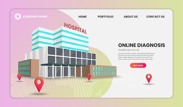Online bestemmingspagina voor medische diagnose