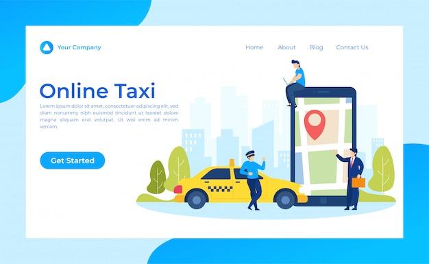 Online bestemmingspagina voor taxi