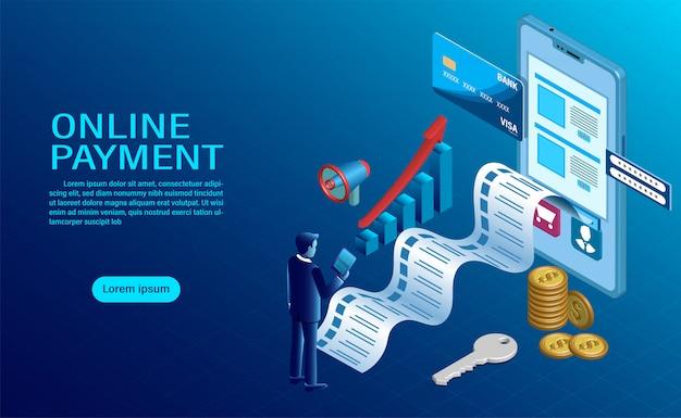 Online betalen met mobiel. bescherming van geld bij gsm-transacties