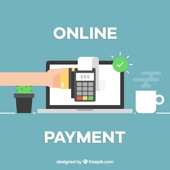 Online betaling achtergrond ontwerp