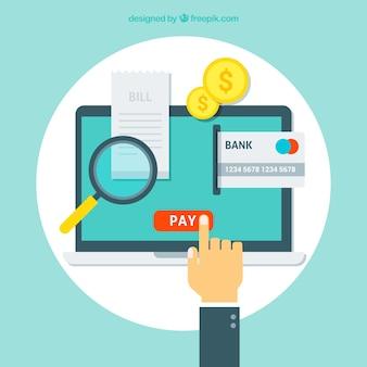 Online betaling achtergrond