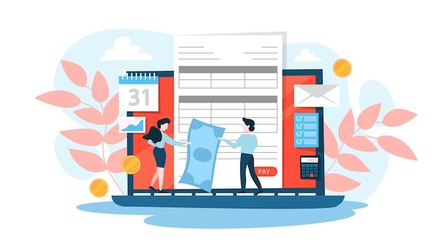 Online betalingsconcept. idee van draadloze transactie
