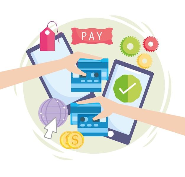 Online betalingsgeld Premium Vector