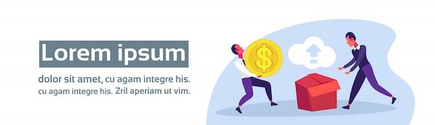 Online betalingsillustratie met bedrijfsmensen