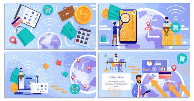 Online betalingsservices op mobiele apparaten en laptops