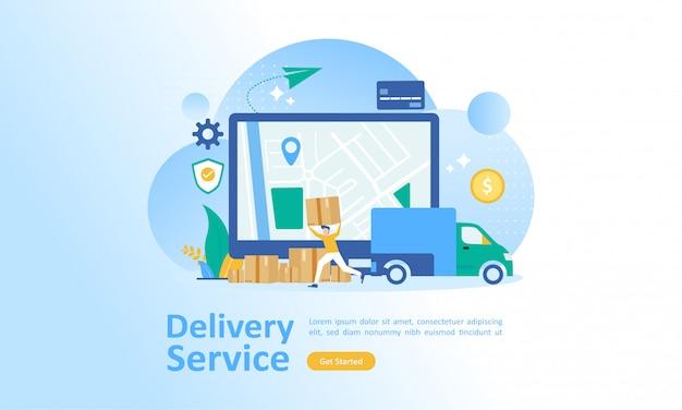 Online bezorgservice wereldwijd