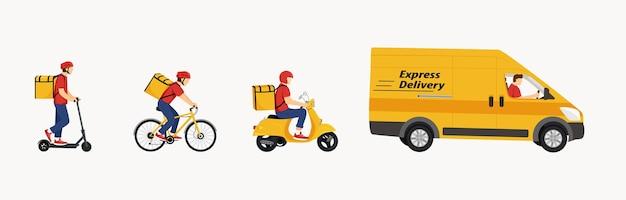 Online bezorgserviceconcept online bestelling volgen thuis- en kantoorbezorging