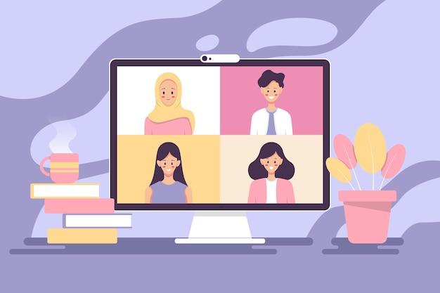 Online bijeenkomst. .