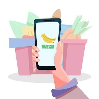 Online boodschappen doen via de telefoon
