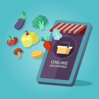 Online boodschappen winkel