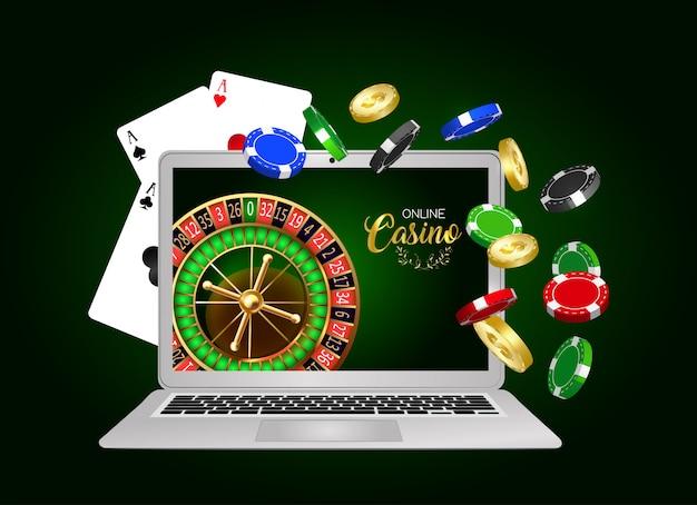 Online casino ontwerpbanner.