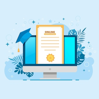 Online certificering illustratie