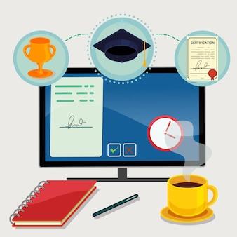 Online certificering illustratie