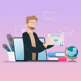 Online certificering voor afgestudeerde student